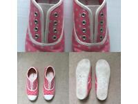 Cath Kidston lace-free plimsolls
