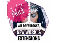 DREADLOCK HAIRDRESSER - !! 50% on all extensions!! WhatsApp! for consultation - +447792003293