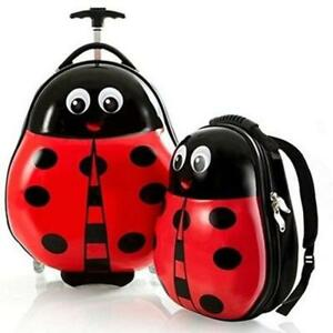 HEYS Kids 2Pc. Travel Tots (Ladybug) Lightweight Luggage & Backpack Set