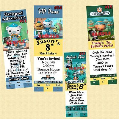 Octonauts Birthday Invitations 10 ea w/Envelopes Personalized Custom - Custom Made Invitations