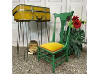 Vintage Nursing Chair Painted Solid Wood