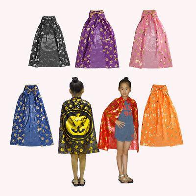 Halloween Witch Cloak Robe Pumpkin Style Cape for Kids Fancy Dress Costumes - Halloween Costumes For Kids Pumpkin