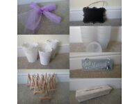 Wedding decoration bundle inc. 95 lilac organza chair ties