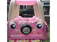 PINK CAMPERVAN CAR PADDLING POOL BALL PIT