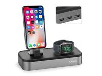 Oittm 5 Ports Charge Stand for Apple Watch and iPhone[New]