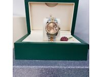 Rolex DateJust, TwoTone with gold face. Complete with Box & paperwork. Post or collection. £140