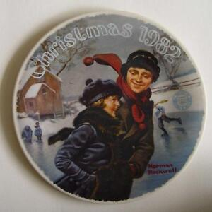 "Norman Rockwell Collector Plate ""Christmas 1982""."