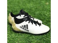Boys adidas ace 16.4 white indoor boots size 11