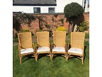 Angraves Invincible Cane Furniture x 4 Chairs