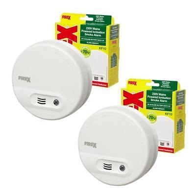 2 x Kidde Firex KF10 (4870) Smoke Alarm Mains / Battery Back Up Ionisation