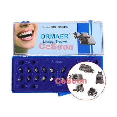 20pcskit Orthodontic Lingual Brackets Dental Metal Braces Mini Roth 0.018