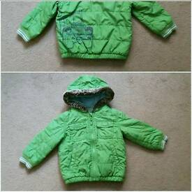 Boys 12-18 month coat & size 5 boots
