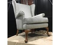Reupholstered Parker Knoll Wingback Armchair