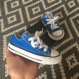 Toddler size 6 blue converse worn twice
