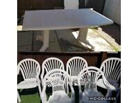 Garden Extendable table and 6 chairs