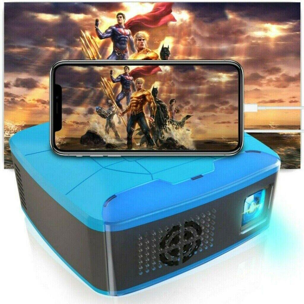 Mini 1080P 3D Projektor Pocket 7000LM LED Beamer Heimkino Voll HD AV USB TF HDMI