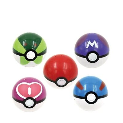 9cs Poke Mon Game Ball Go Pokeball Pop-up Plastic Ball Toy Throw Figure Games