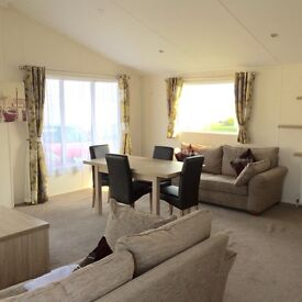 LODGE FOR SALE WITH SEA VIEW PITCH. AMAZING VIEWS OVER THE NORTHUMBERLAND COAST. 12 MONTH SEASON