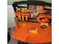 Boys/girls play workbench/tool station
