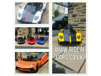 Brand New With Warranty Licensed 12v & 24v Ride-On Cars, Free Build, Free Numberplates From £100