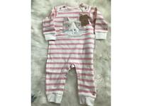 SOLD-BNWT Joules 3-6 months girl footless babygrow