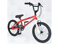 """Muddyfox Griffin 18"""" BMX Bike with Stunt Pegs in Red and White - Boys - Exclusive New Model"""