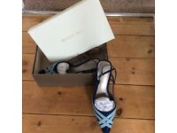 Jacques vert dress and jacket in size 12 matching shoes size 5 and clutch