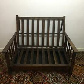 Beautiful solid wood sofa bed futon bench.