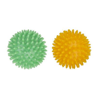2x Deep Tissue Back Massager Reflexology Acupressure Massage Roller Ball 8cm ()