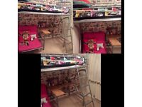 Girls High Rise Bed with Futon, Desk, Stool and Mattress
