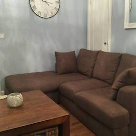 Next Corner sofa and snuggle chair ex condition