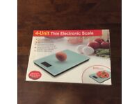 Electronic thin kitchen scales.
