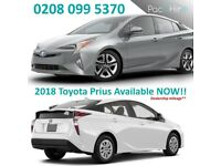 CHEAPEST PCO CAR HIRE / UBER RENT / BRAND NEW TOYOTA PRIUS 2018 models UBER READY