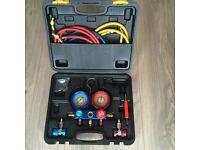 Car Air Conditioning A/C Refrigeration Kit Manifold Gauge Set R134A