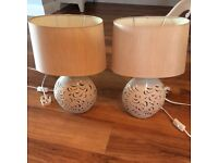 Pair of bed side table lamps