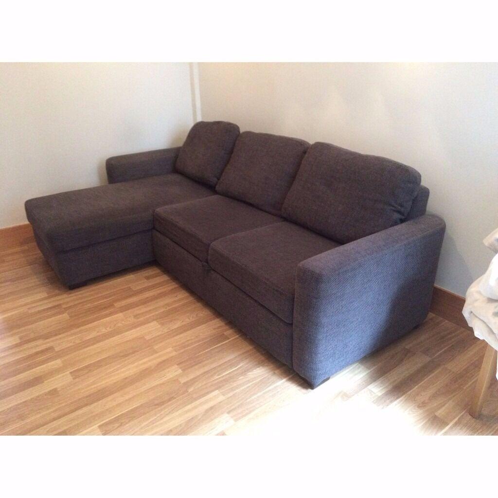 Gumtree Corner Sofa Bed Glasgow: John Lewis Sacha Corner Sofa Bed In Mid/Dark Grey Fabric