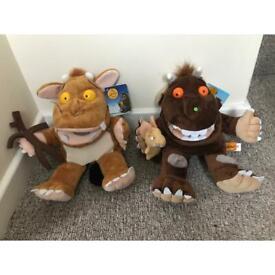 Gruffalo hand puppets