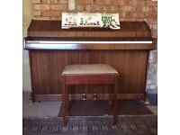 Eavestaff compact upright minipiano, good sound quality, good condition, suitable for small home