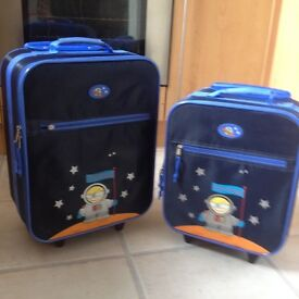 SET OF TWO CHILD'S SUITCASES