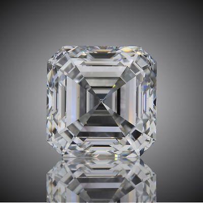 1.01 carat Asscher cut Diamond GIA I color VVS2 clarity no fl. Excellent loose