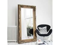 Mirror Louis X Large Full Length Wall Leaner Mirror Gold - 2'11inches x 5'9inches