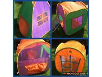 Bundle of pop up play tents and tunnels