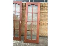 Two mahogany door