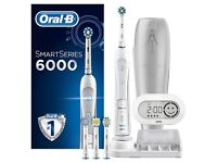 New Oral B Smart Series 6000 CrossAction Electric Rechargeable Toothbrush - Bluetooth Connectivity