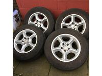 Alloys 4 x BMW X5 will fit VW T5