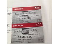 2 Peter Kay Dance For Life tickets.