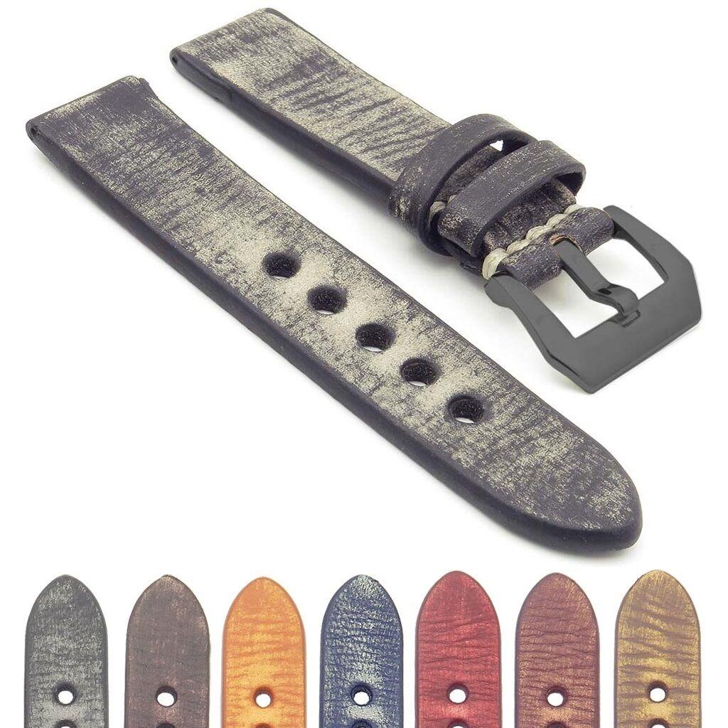 Distressed Vintage Leather Watch Strap | StrapsCo