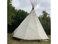 Tipi 18ft made of regentex canvas with 2 linings