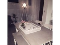 Dining Table Set (2 Chairs & Bench) (BRIDGEND NOT BEDDAU)