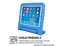 BLUE RUBBER COOPER CARRY CASE FOR IPAD NEW!!